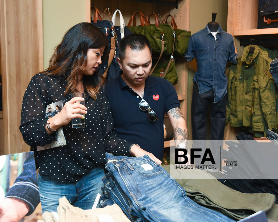Mary Pierson, Bryan Boone at J CREW Introduces Its New Men's Denim