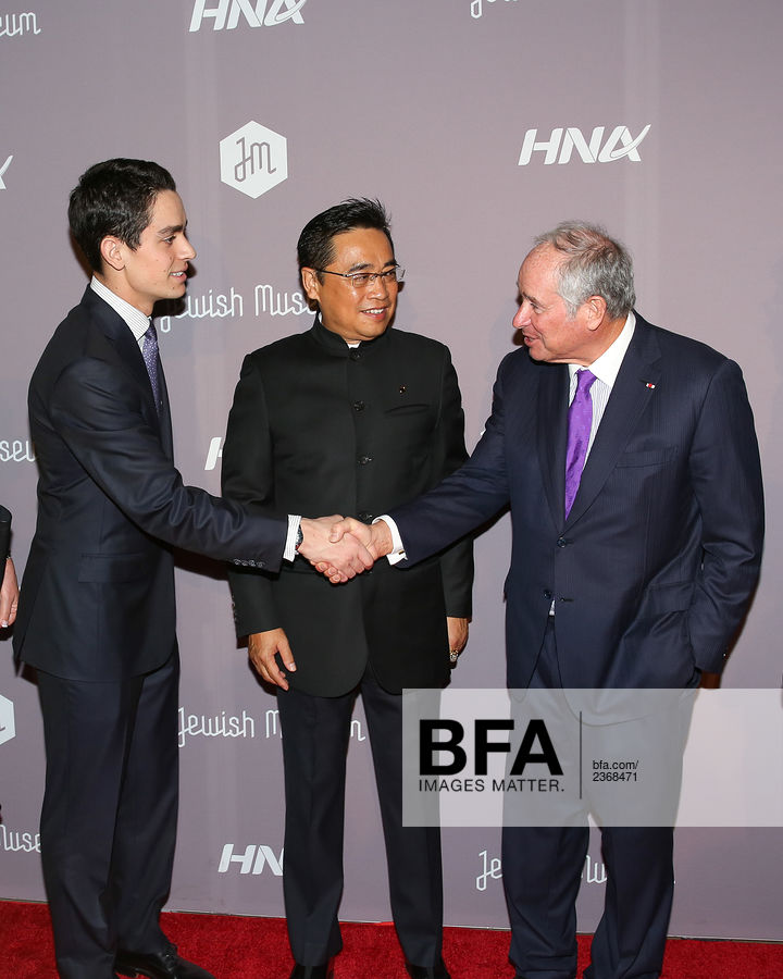 Chairman Wang Jian, Stephen Schwarzman at The Jewish Museum's : Purim Ball 2017 / id : 2368471 by Aria Isadora/BFA.com