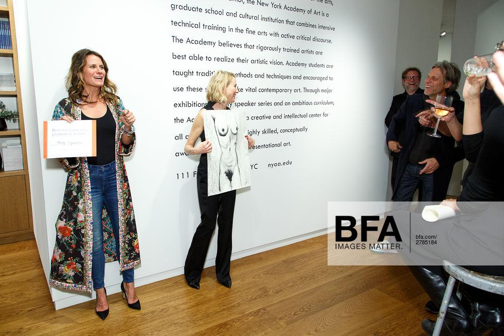 Christina Di Donna, Naomi Watts at New York Academy of Art