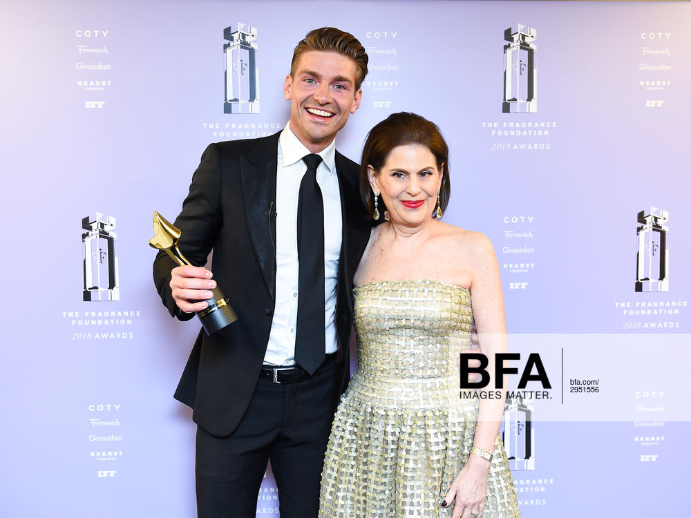 Jeremy Fragrance, Linda G  Levy at 2018 Fragrance Foundation
