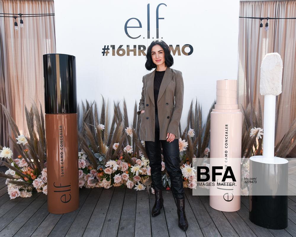 Sarah Najafi at e l f  Cosmetics x Bloggers Who Brunch: Camo