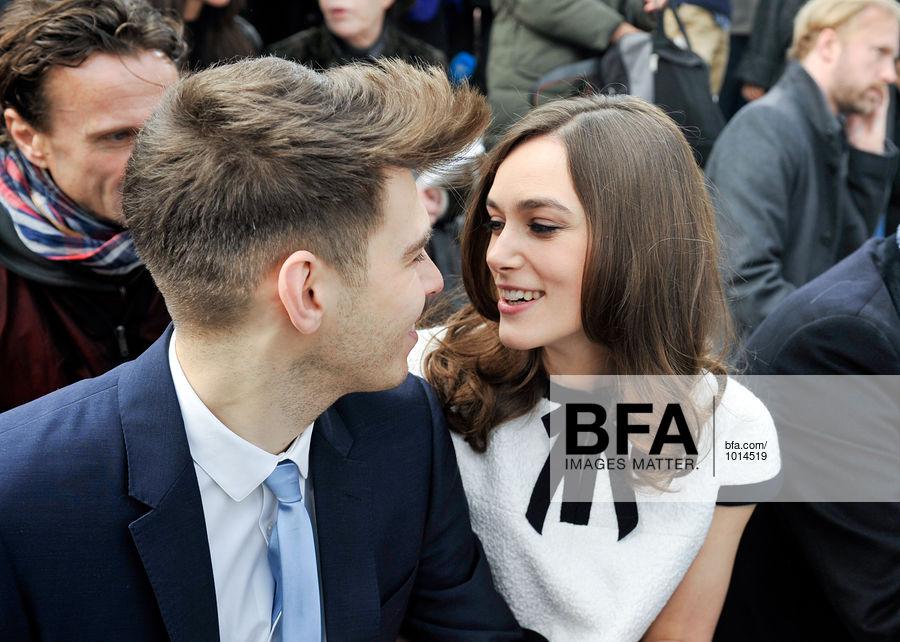 James Righton, Keira Knightley at CHANEL AW14 Fashion Show
