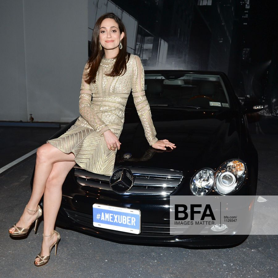 Emmy Rossum, UBER at AMERICAN EXPRESS & UBER Launch Party in